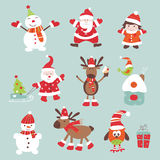 Christmas scrapbook elements Stock Images