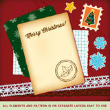 Christmas scrapbook elements template. Royalty Free Stock Photos