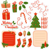 Christmas scrapbook elements. Vector Stock Photos