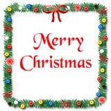 Christmas scrapbook frame Stock Image