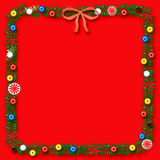 Christmas scrapbook frame Stock Photos