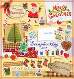 Christmas scrapbook set. Royalty Free Stock Photography
