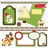 Christmas scrapbook set Stock Photos