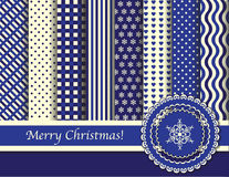 Christmas scrapbooking blue and cream Stock Photography