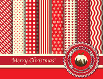 Christmas scrapbooking red and cream Royalty Free Stock Photography