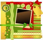 Christmas scrapbooking set Royalty Free Stock Image