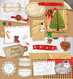 Christmas Scrapbooking set. Royalty Free Stock Photo