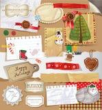 Christmas Scrapbooking set. Royalty Free Stock Photo
