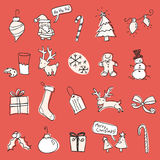 Christmas Scribbles. Christmas elements in a hand-drawn style Stock Photos