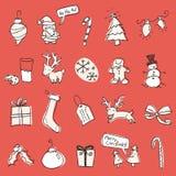 Christmas Scribbles Stock Photos