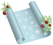 Christmas scroll Royalty Free Stock Image