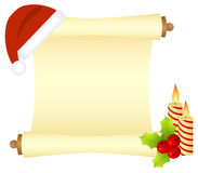 Christmas scroll Royalty Free Stock Photo