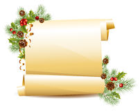 Christmas scroll Stock Image