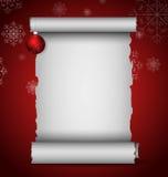 Christmas scroll Stock Photo