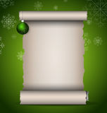 Christmas scroll Stock Photography