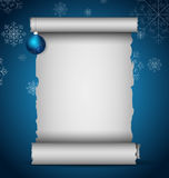 Christmas scroll Royalty Free Stock Photography