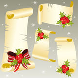 Christmas scrolls Royalty Free Stock Photography