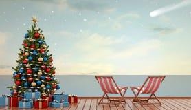 Christmas at sea Stock Photo