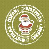 Christmas seal Stock Images