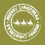 Christmas seal Stock Image