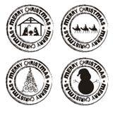 Christmas seal vector illustration