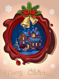Christmas Seal Royalty Free Stock Images