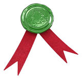 Christmas Seal with Ribbons Royalty Free Stock Photos