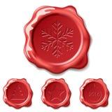 Christmas seal wax Stock Image