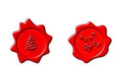Christmas Seals Royalty Free Stock Photos