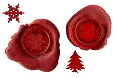 Christmas seals Stock Photography