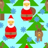 Christmas seamless. With Santa and deers Royalty Free Stock Images