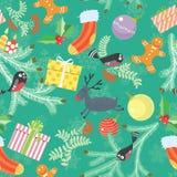 Christmas seamless Stock Images