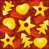 Christmas seamless. Seamless background with Christmas objects Royalty Free Stock Photo