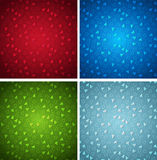 Christmas seamless abstract backgrounds set Stock Images