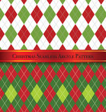 Christmas Seamless Argyle Pattern Design Set 1 Royalty Free Stock Images