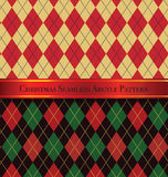 Christmas Seamless Argyle Pattern Design Set 2 Stock Photos