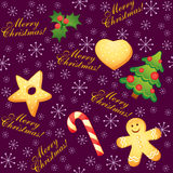 Christmas seamless background Stock Photos