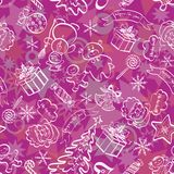 Christmas seamless background Royalty Free Stock Images