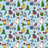 Christmas seamless background Royalty Free Stock Image
