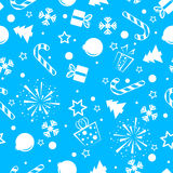 Christmas seamless background blue Royalty Free Stock Image