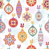 Christmas seamless background vector illustration