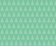 Christmas seamless background. Christmas trees seamless pattern Stock Images