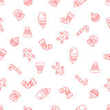 Christmas seamless background of Doodle Royalty Free Stock Images
