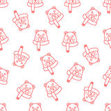 Christmas seamless background of Doodle Stock Image