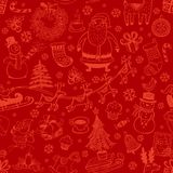 Christmas seamless background with doodle symbols. Christmas seamless background with hand drawn symbols for banners, backgrounds, presentations, decorations Royalty Free Stock Photo