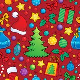 Christmas seamless background 1 Royalty Free Stock Image