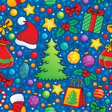 Christmas seamless background 3 Royalty Free Stock Images