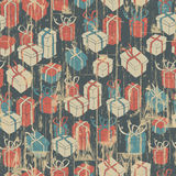 Christmas seamless background with gifts pattern. Royalty Free Stock Photos