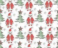 Christmas seamless background. Hand drawn pattern. Christmas seamless background. Hand drawn cute pattern Royalty Free Stock Images