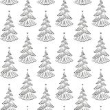 Christmas Trees, Seamless. Christmas Seamless Background with Holiday Fir Trees, Winter Symbolic Tile Pattern for Your Design. Vector Stock Photos